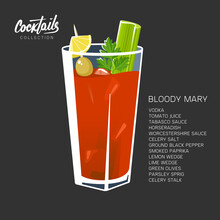 Bloody Mary Cocktail Black Red...