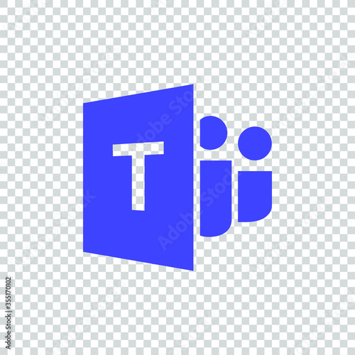 Microsoft Teams logo,remote working application symbol,Microsoft Teams icon Canvas Print