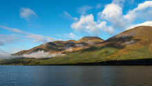 Loch Lochy Autumn Colour And Low Drifting Cloud