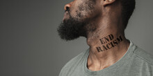 Close Up Black Man Tired Of Ra...