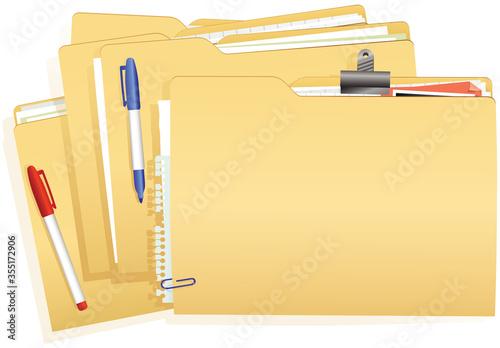 Cuadros en Lienzo Document file stack