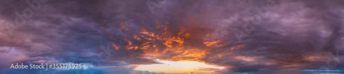 Photo Summer sunset sky panorama background