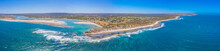Aerial View Of Confluence Of Murchison River With Indian Ocean At Kalbarri, Australia
