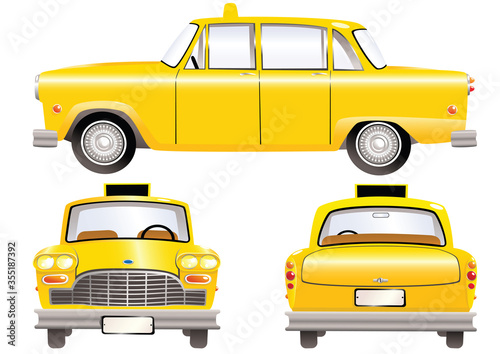 Fotografiet Yellow taxi cabs
