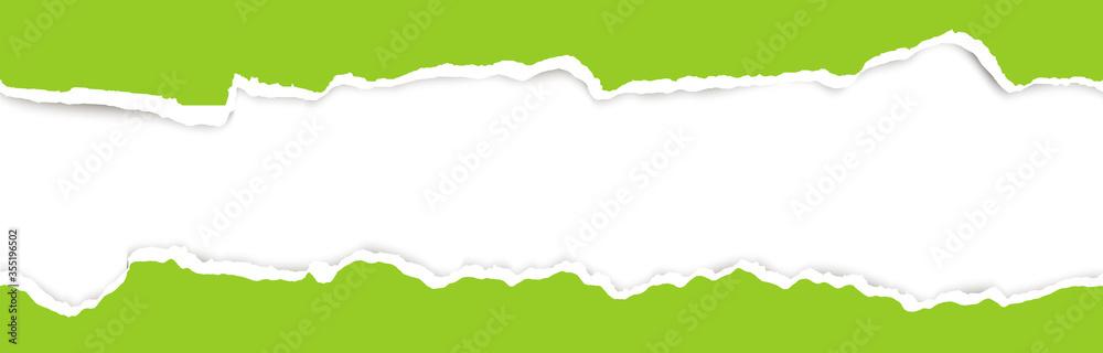 Fototapeta ripped open paper