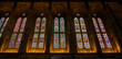 Beautiful and Vibrant Church stained glass windows and associated interior
