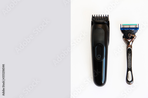 Papel de parede electric hair clipper and shaving machines with metal blades