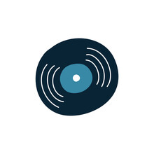 Music Plate Doodle Icon, Vecto...