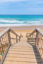 Wooden Staircase Leading To A Beach At Lorne, Australia