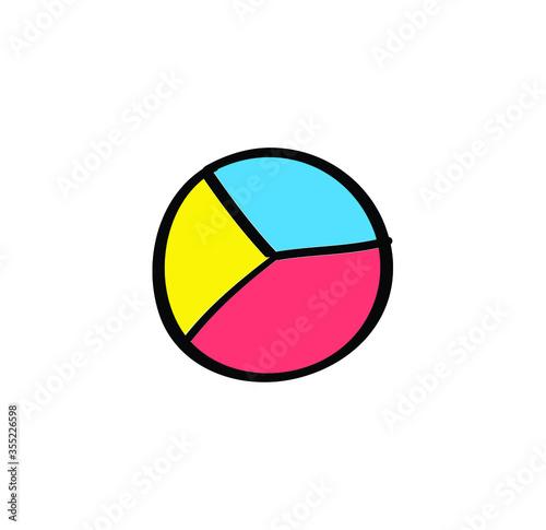 Photo analytic vector glyph colour icon