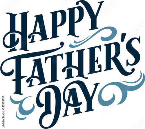 Happy Fathers Day Custom Text Banner - 355229338