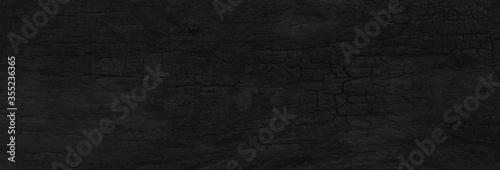 Fototapeta Wood black background blank for design obraz