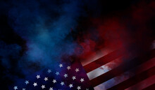 Flag USA Background Design For...