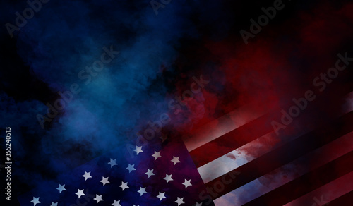flag USA background design for independence, veterans, labor, memorial day Fototapete