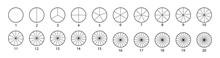 Segmented Circles Set Isolated...