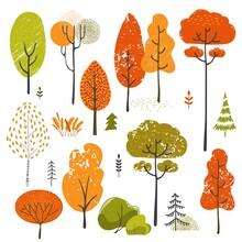 Set Of Stylistic Trees. Trees ...