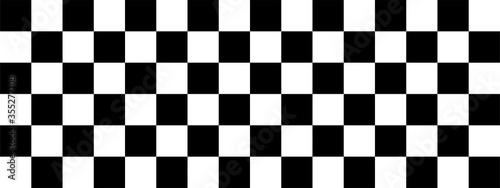 Leinwand Poster Checkered flag. Racing flag. Race. Vector