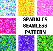 Sparkles Seamless Pattern In D...
