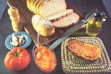 Bread With Tomato, Olive Oil, ...