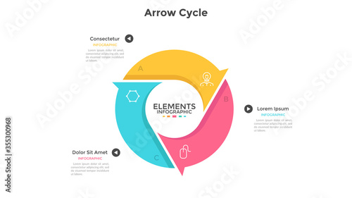 Vector Infographic Template Canvas