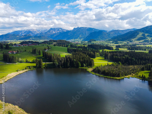 defaultWonderful small lake in the German Alps in Bavaria - typical landscape #355317587