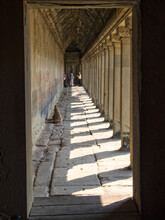 View Of The Inside Of The Outer Gallery Of Angkor Wat - Siem Reap, Cambodia