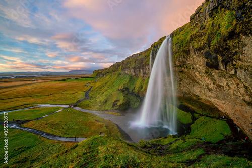 Iceland beautiful landscape, Icelandic nature landscape Wallpaper Mural