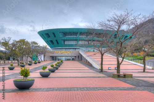 Memorial Hall at Jeju April 3 Peace park at Republic of Korea Wallpaper Mural