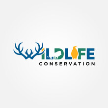 Wildlife Conservation Logo Vec...