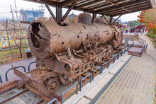 View Of A Destroyed Locomotive...
