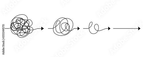 Fotomural scribble line doodles