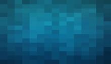 Abstract Dark Blue Geometric B...