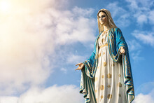 Virgin Mary Statue With Nice Sky Background