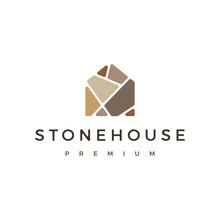 Stone House Logo Vector Icon I...