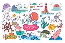 World Ocean Day Doodle Element