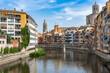 Cityscape of Girona in Catalonia, Spain.