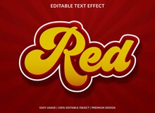 Red Text Effect Template With ...