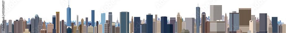 Fototapeta 摩天楼 大都会のビル群 パノラマ