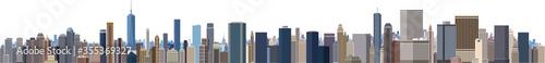摩天楼 大都会のビル群 パノラマ Fototapete