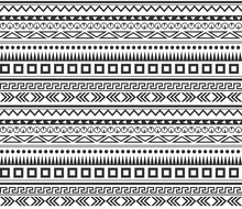 Tribe Pattern. Seamless Textil...