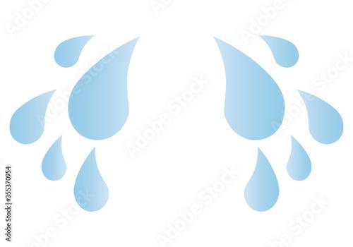 Photo Gotas de agua y lágrimas en fondo blanco.