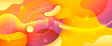 Abstract Yellow Background Des...