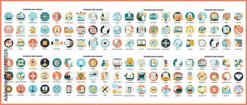 Fototapeta Business icons set for business. obraz