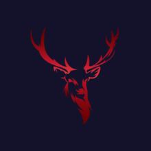 Abstract Deer Vector Logo Temp...