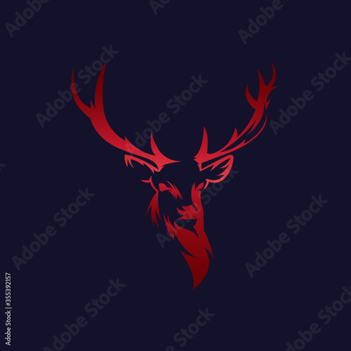 Obraz na plátně Abstract deer vector logo template - Eps 10