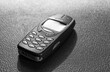 Close up of and old analogue mobile cell phone