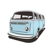 Vector Illustration Van Camper Isolated Easy To Edit