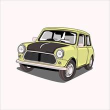 Vector Illustration Car Classic Retro