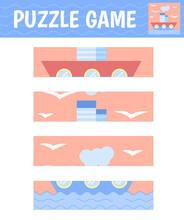 Puzzle Ship. Children's Game F...