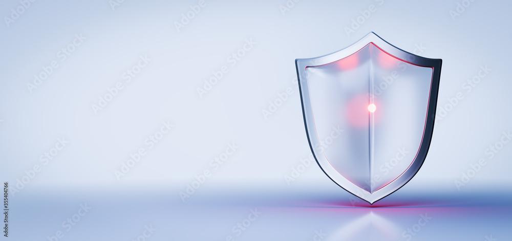 Fototapeta Modern shield protection concept